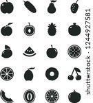 solid black vector icon set  ... | Shutterstock .eps vector #1244927581
