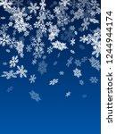 winter snowflakes border simple ... | Shutterstock .eps vector #1244944174
