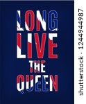 long live the queen greeting... | Shutterstock . vector #1244944987