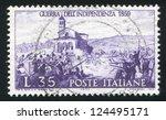 italy   circa 1959  stamp... | Shutterstock . vector #124495171