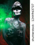 hot scary death bodyart woman... | Shutterstock . vector #1244963737