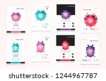 abstract vector business... | Shutterstock .eps vector #1244967787