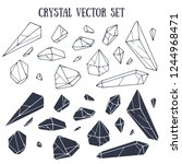 crystal vector set with... | Shutterstock .eps vector #1244968471