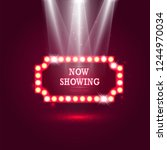 shining retro billboard with...   Shutterstock .eps vector #1244970034