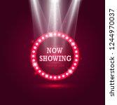 shining retro billboard with...   Shutterstock .eps vector #1244970037
