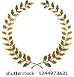 laurel tree ornament of... | Shutterstock . vector #1244973631