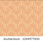 unique abstract  pattern  with... | Shutterstock . vector #1244977654