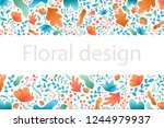 plant leaves and flowers.... | Shutterstock .eps vector #1244979937