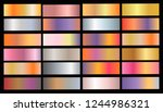 gold rose  bronze  silver and... | Shutterstock .eps vector #1244986321