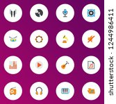 music icons flat style set with ... | Shutterstock .eps vector #1244986411