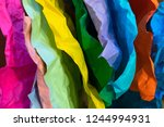 multi colored crumpled sheets...   Shutterstock . vector #1244994931