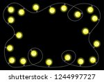 vector illustration of a chain... | Shutterstock .eps vector #1244997727