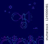 bike horn vector line icon....