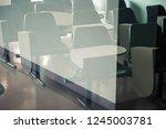 vintage image of desk and... | Shutterstock . vector #1245003781