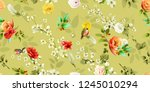 wide vintage seamless... | Shutterstock .eps vector #1245010294