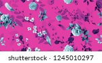 wide vintage seamless... | Shutterstock .eps vector #1245010297