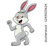 Stock vector cartoon rabbit running 1245025624
