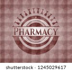 pharmacy red emblem or badge... | Shutterstock .eps vector #1245029617