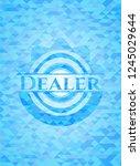 dealer realistic light blue... | Shutterstock .eps vector #1245029644