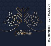 christmas background with... | Shutterstock .eps vector #1245033904