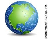 north america globe | Shutterstock .eps vector #124503445