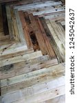reclaimed pallet flooring | Shutterstock . vector #1245042637