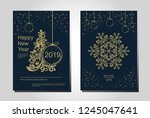 new year greeting card design... | Shutterstock .eps vector #1245047641