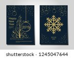 new year greeting card design... | Shutterstock .eps vector #1245047644