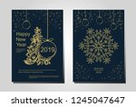 new year greeting card design... | Shutterstock .eps vector #1245047647