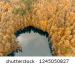 aerial drone view of seven... | Shutterstock . vector #1245050827