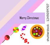 christmas card  christmas candy ...   Shutterstock .eps vector #1245059707