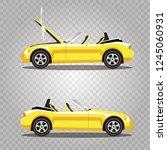 vector set of broken yellow... | Shutterstock .eps vector #1245060931