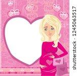 beautiful pregnant woman  ... | Shutterstock .eps vector #1245063517