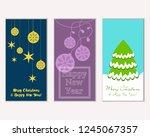vector illustration of winter... | Shutterstock .eps vector #1245067357