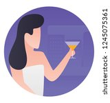 healthy drink to maintain... | Shutterstock .eps vector #1245075361