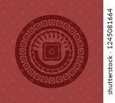 bank safe icon inside badge...   Shutterstock .eps vector #1245081664