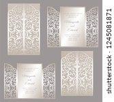 laser cut envelope design....   Shutterstock .eps vector #1245081871