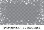 falling snow background.... | Shutterstock .eps vector #1245082051