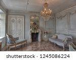 beautiful interior in luxury... | Shutterstock . vector #1245086224