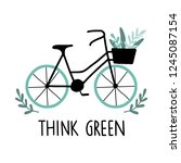 think green. eco life concept... | Shutterstock .eps vector #1245087154