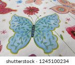 butterfly napkin close up | Shutterstock . vector #1245100234