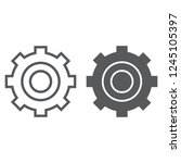 settings line and glyph icon ... | Shutterstock .eps vector #1245105397
