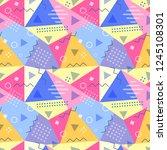 vector seamless pattern in...   Shutterstock .eps vector #1245108301