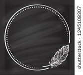 vector round dotted frame frame ...   Shutterstock .eps vector #1245108307