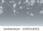 christmas snow flakes... | Shutterstock .eps vector #1245116521
