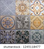 digital tiles design. colorful... | Shutterstock . vector #1245118477