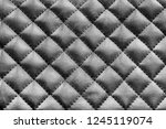 black leather stitched texture... | Shutterstock . vector #1245119074