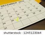 analysis of a calendar and... | Shutterstock . vector #1245123064