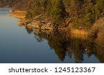 winterview from a bridge a calm ... | Shutterstock . vector #1245123367
