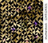 geometric golden foil seamless...   Shutterstock . vector #1245124321